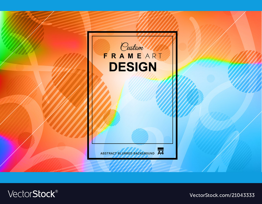Cover or flyer layout with geometric colorful