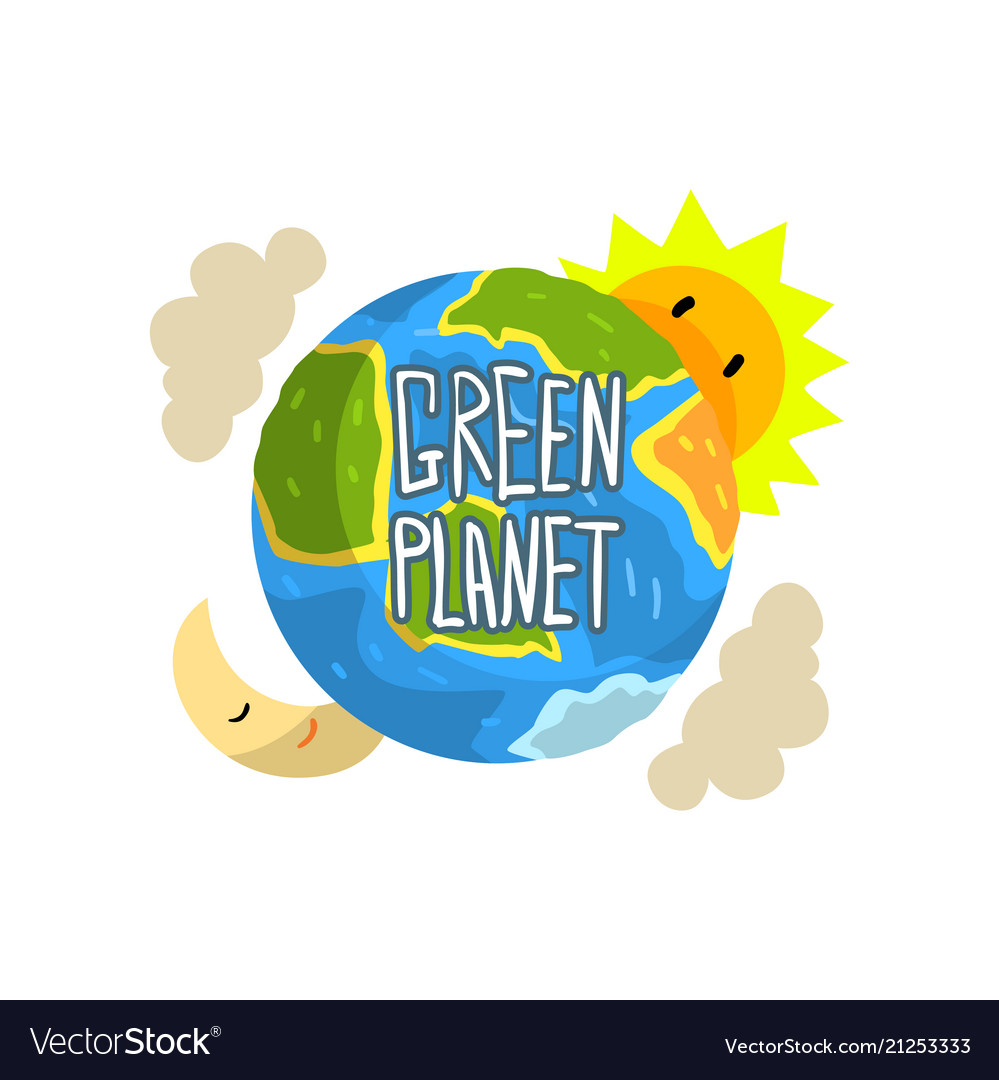 Green planet save planet ecology concept