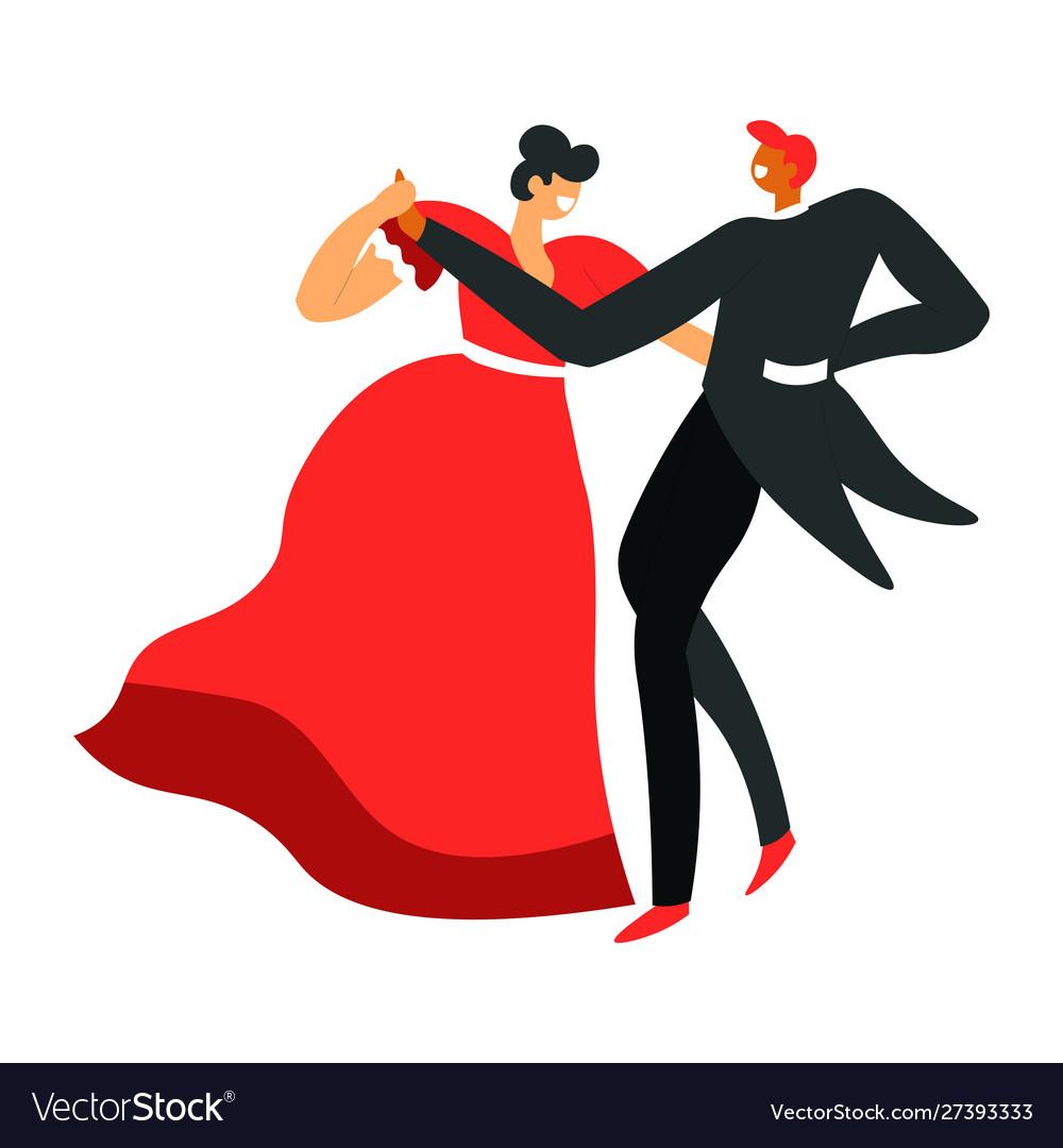 Man and woman dancing ballroom dance dancers