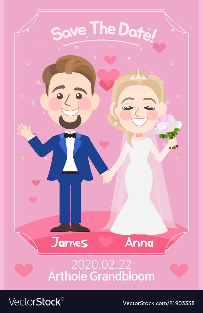 Beautiful wedding card template