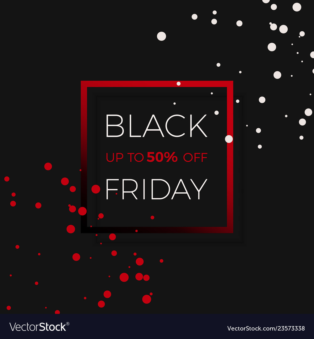 Black friday discount sale promo banner design