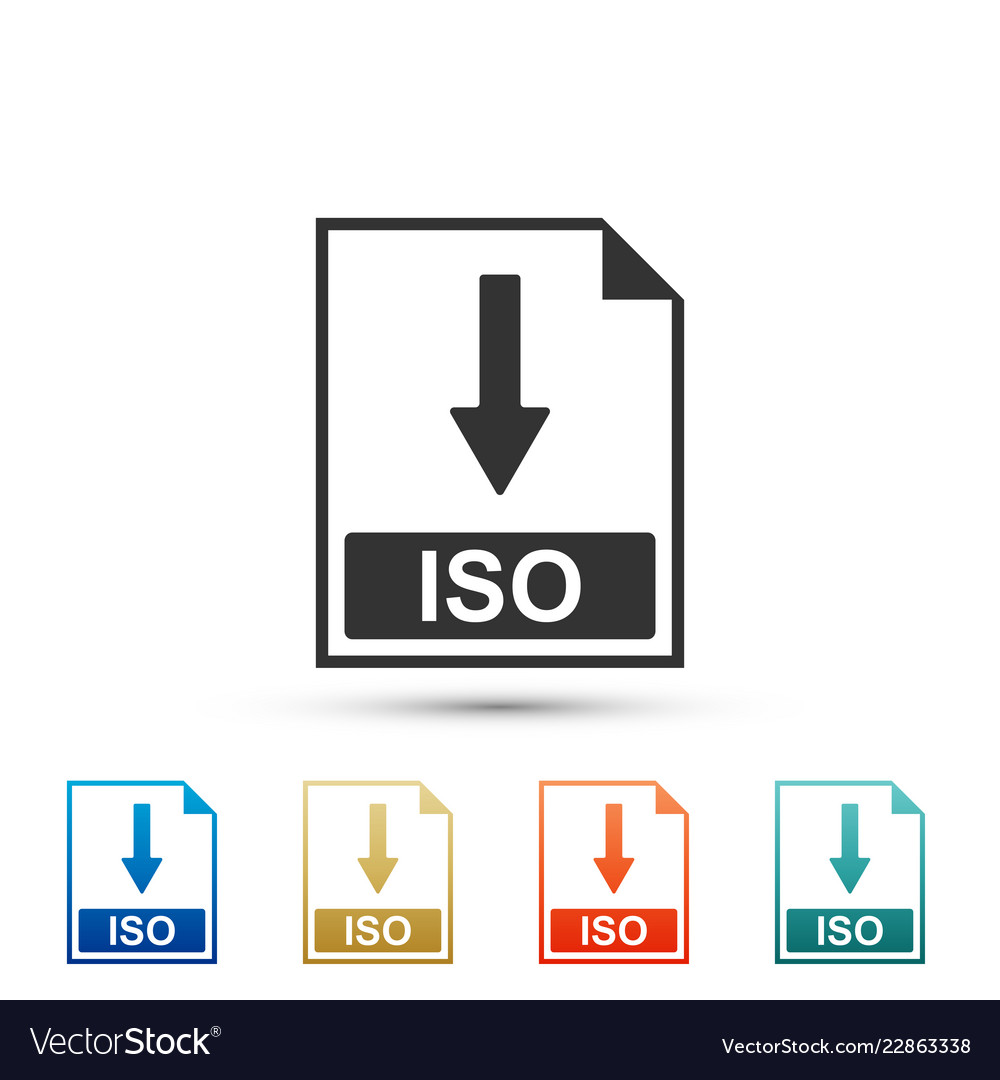 Iso file document icon download iso button icon