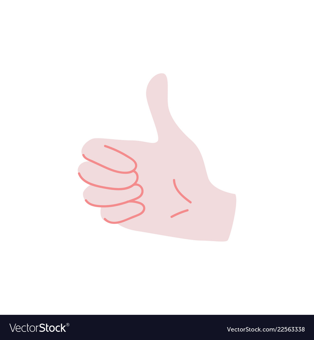 Like sign - human hand showing thumbs up gesture