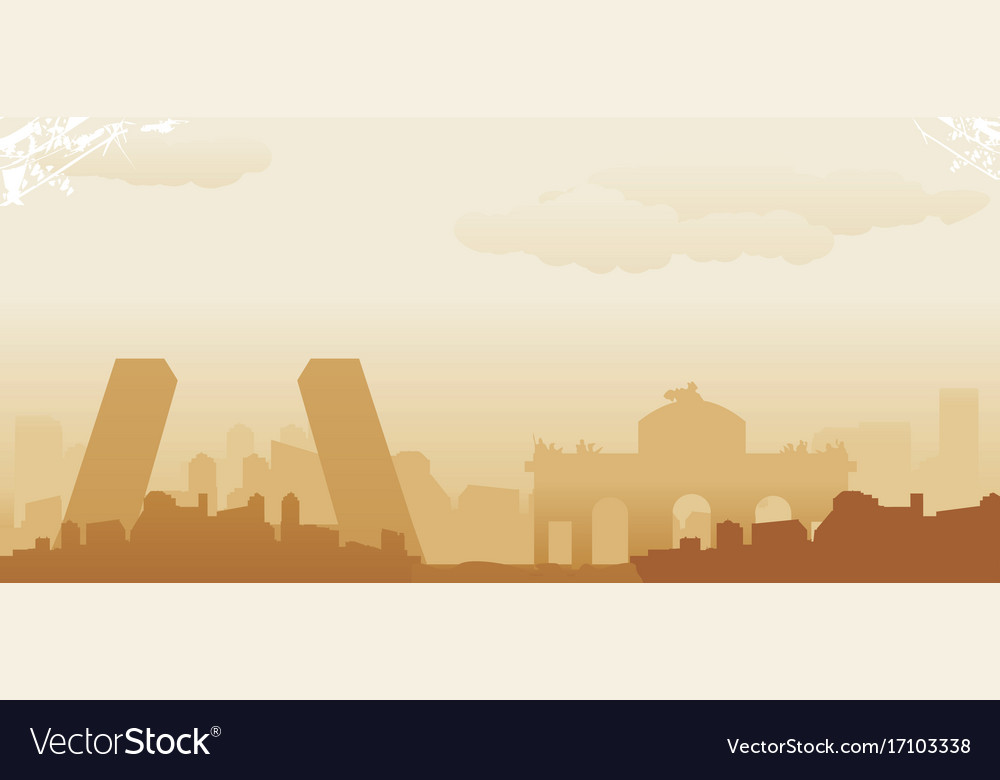 Madrid vector image
