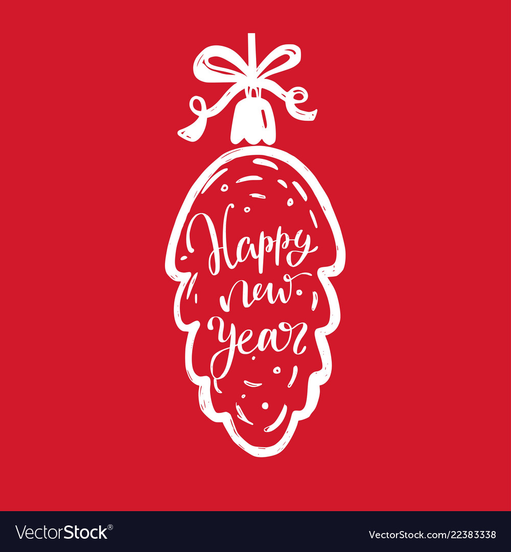 merry christmas and new year words on christmas vector image - Merry Christmas Words