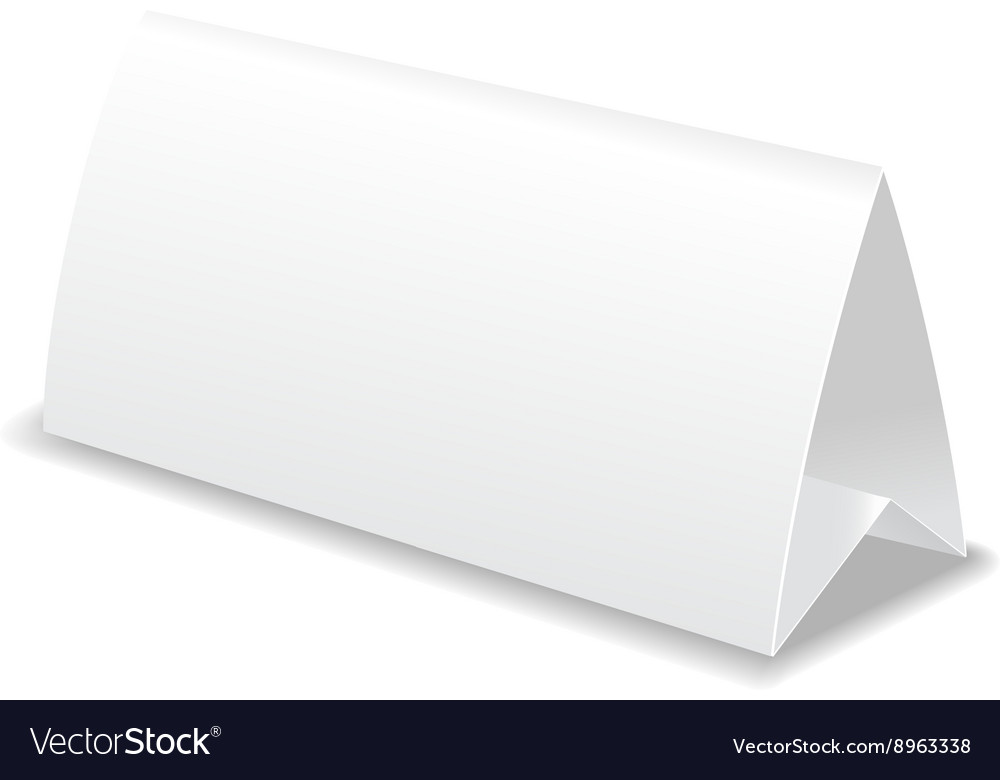 Paper Table Card Template Royalty Free Vector Image