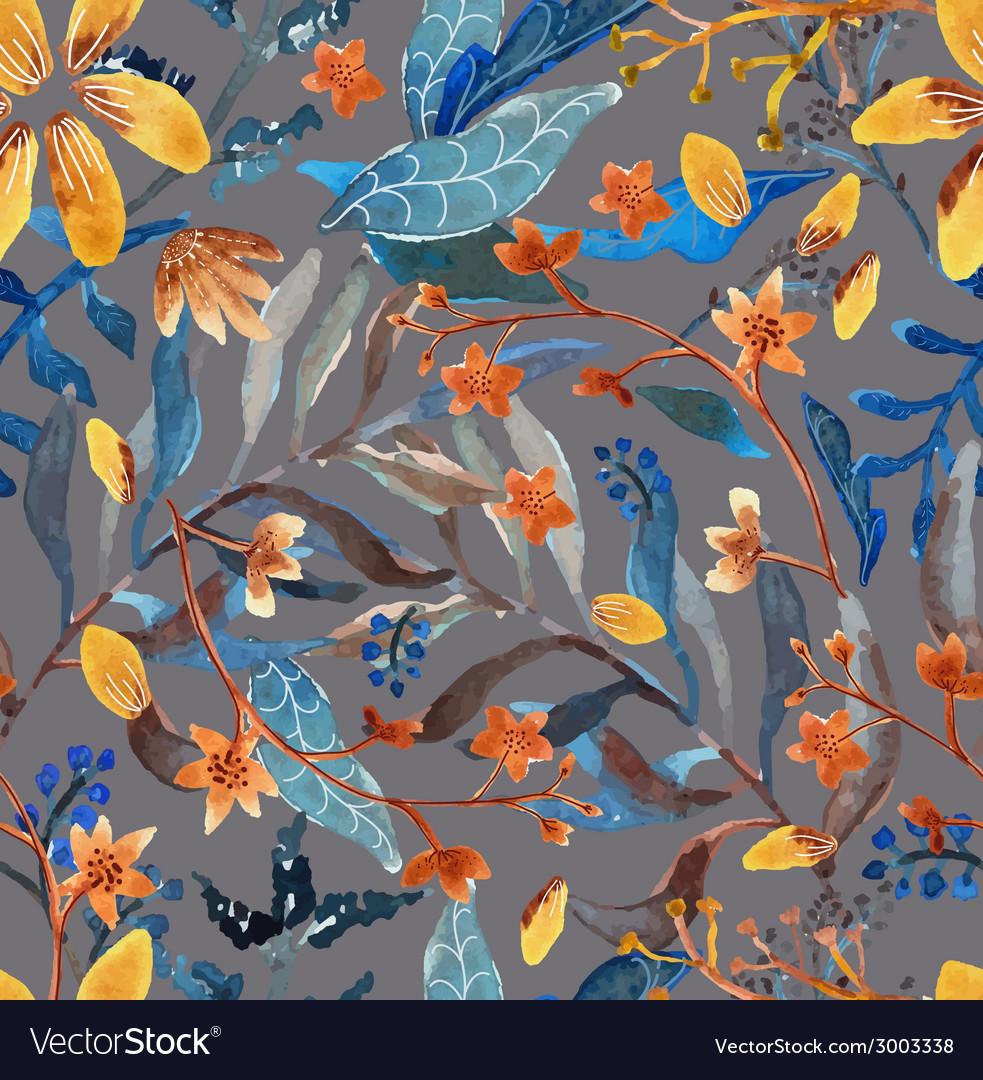 Watercolor natural seamless pattern
