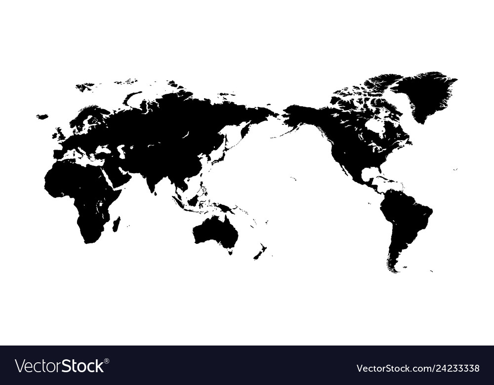 World map silhouette Royalty Free Vector Image