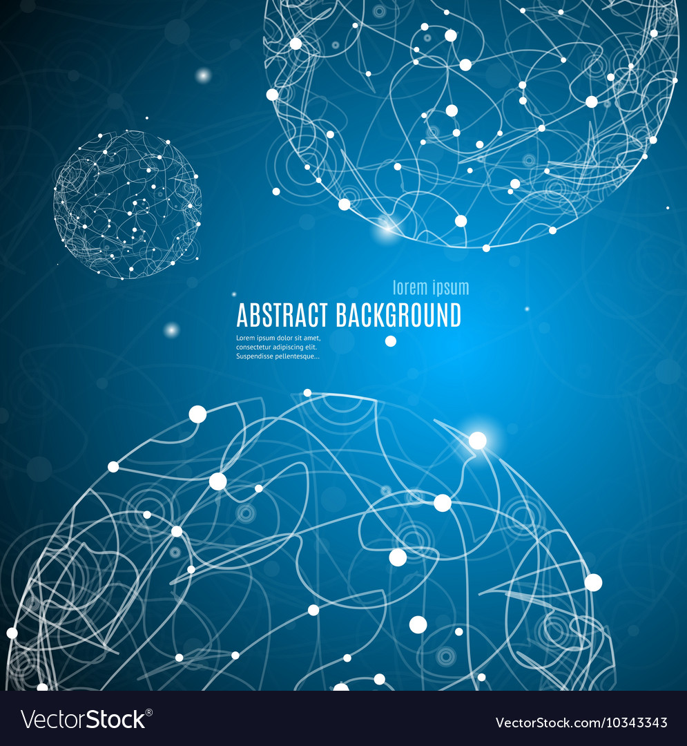 Abstract Background with Sphere Space
