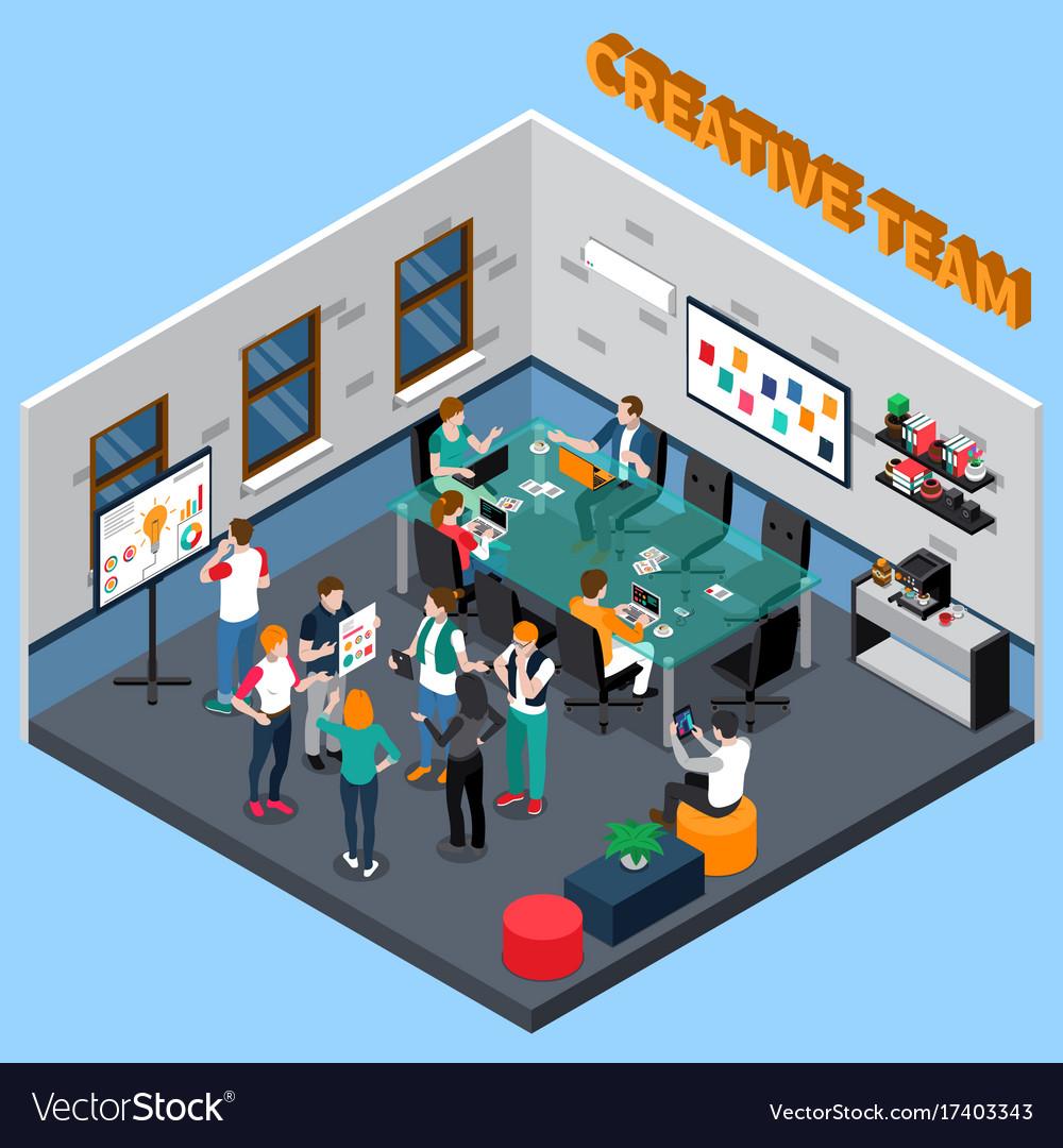 Creative team isometric