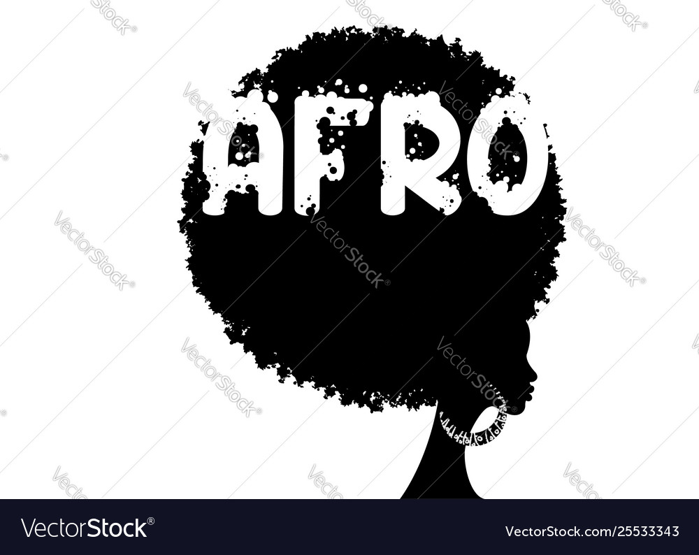 Curly afro hair portrait african women isolated