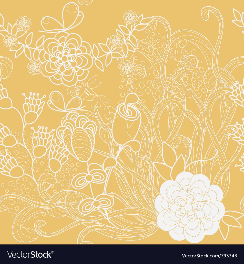 Floral Wallpaper Royalty Free Vector Image Vectorstock