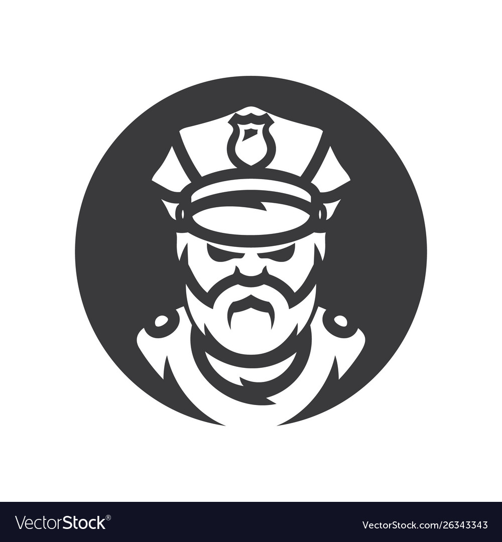 Policeman silhouette sign