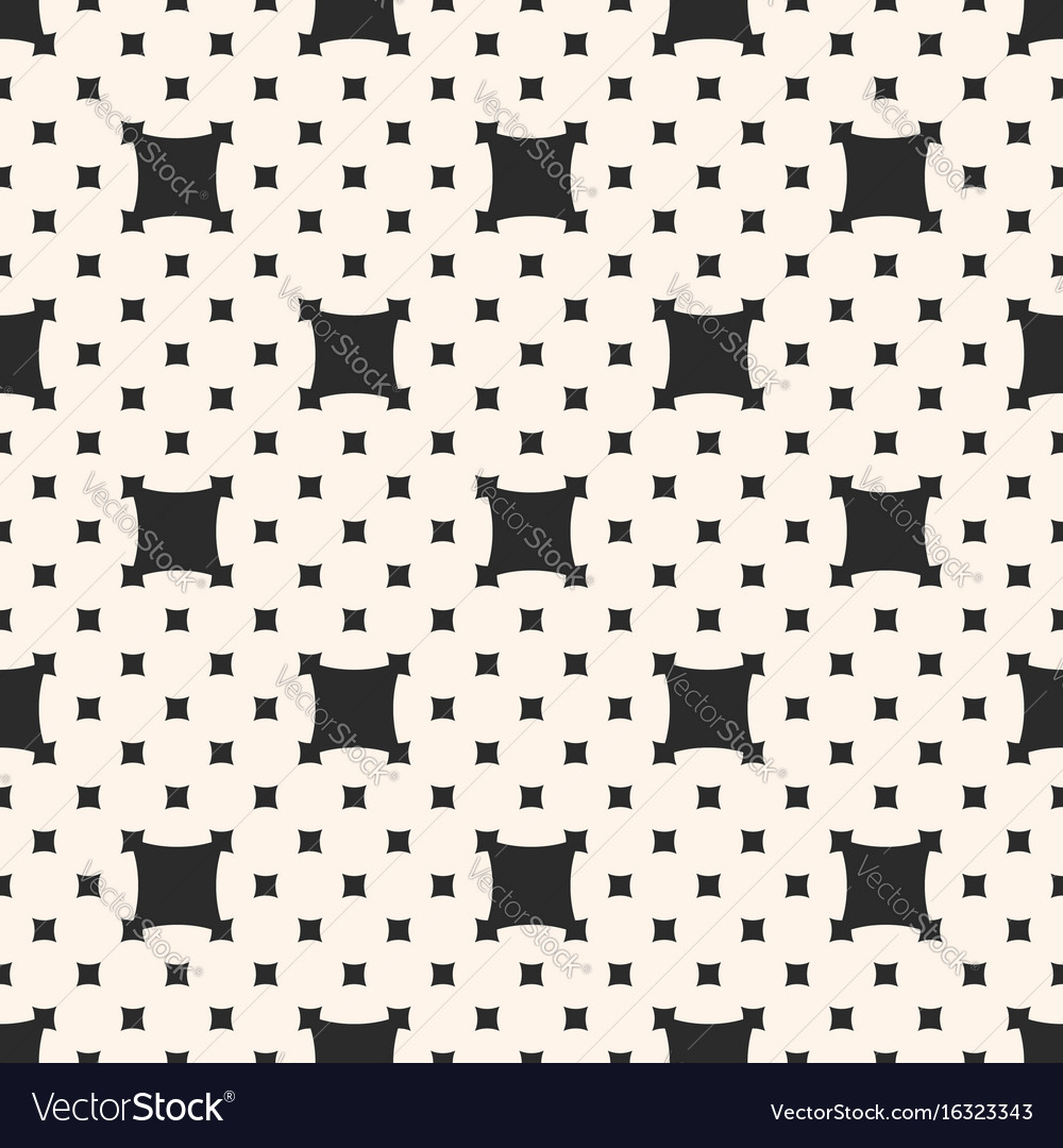 Square pattern with big and small rounded squares