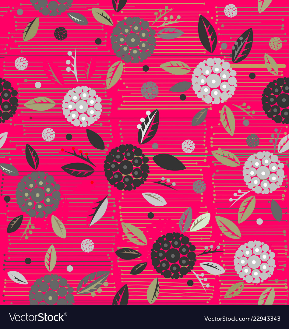 Traditional decorative flowers on a background of