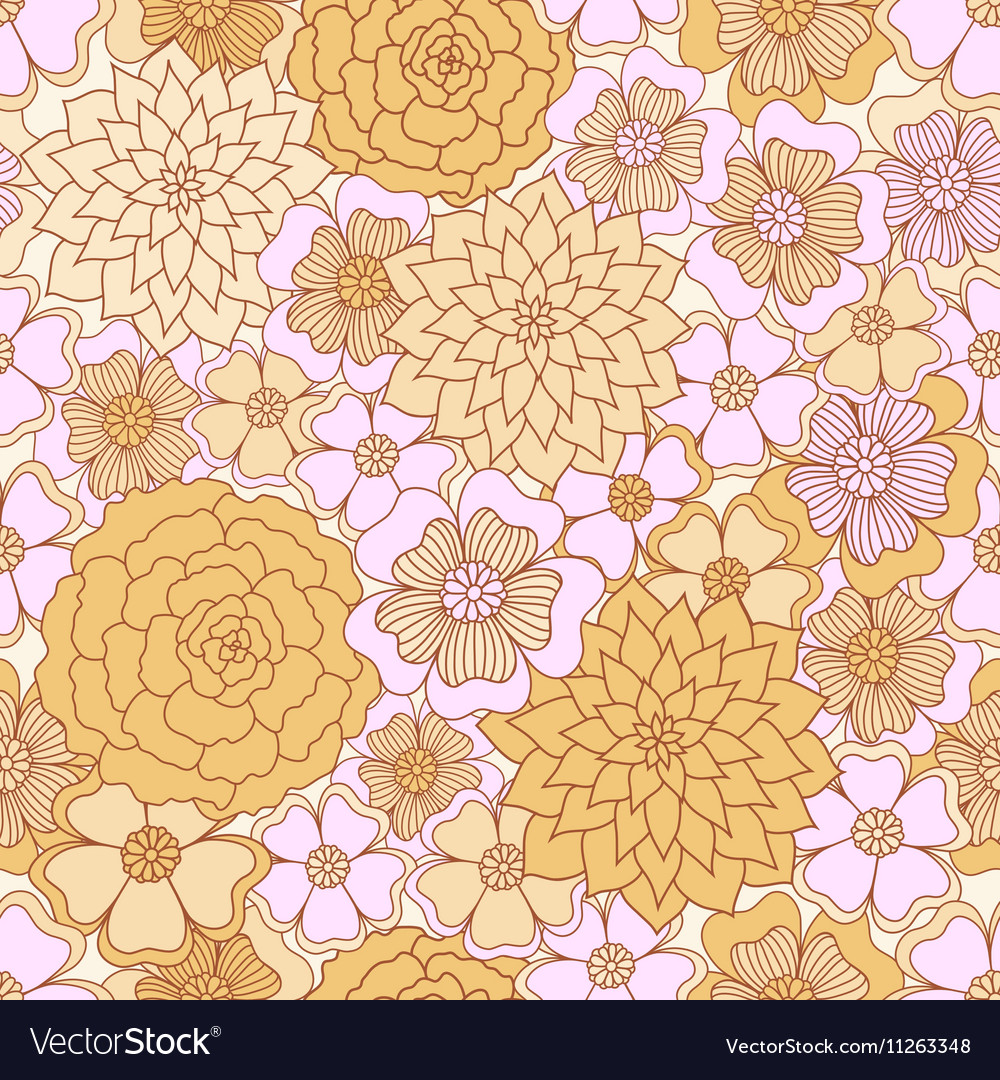 Abstract Seamless pattern Floral background