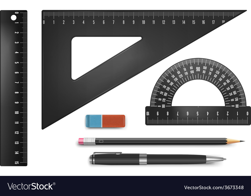 Black school equipment vector image