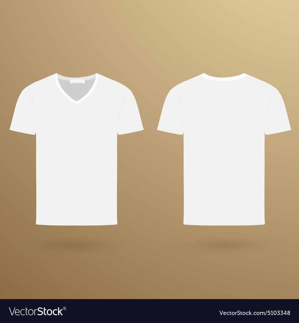 Blank V T Shirt Template Front And Back Royalty Free Vector