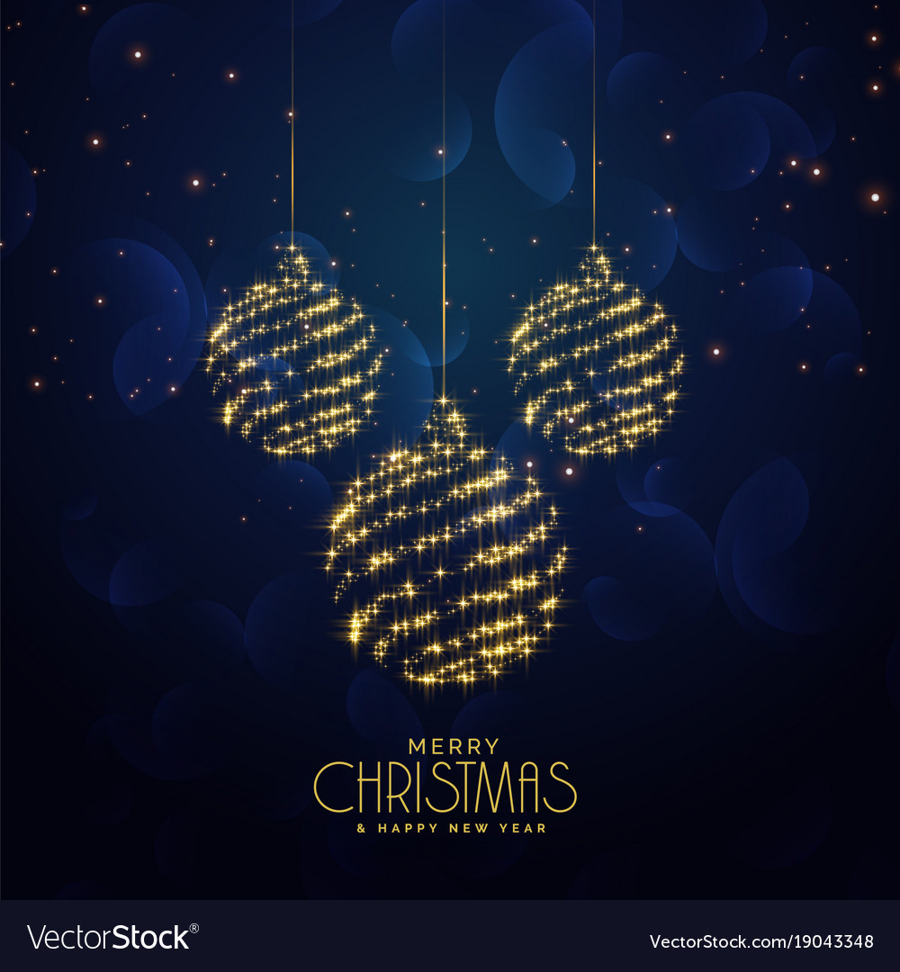 Blue christmas holiday background with hanging