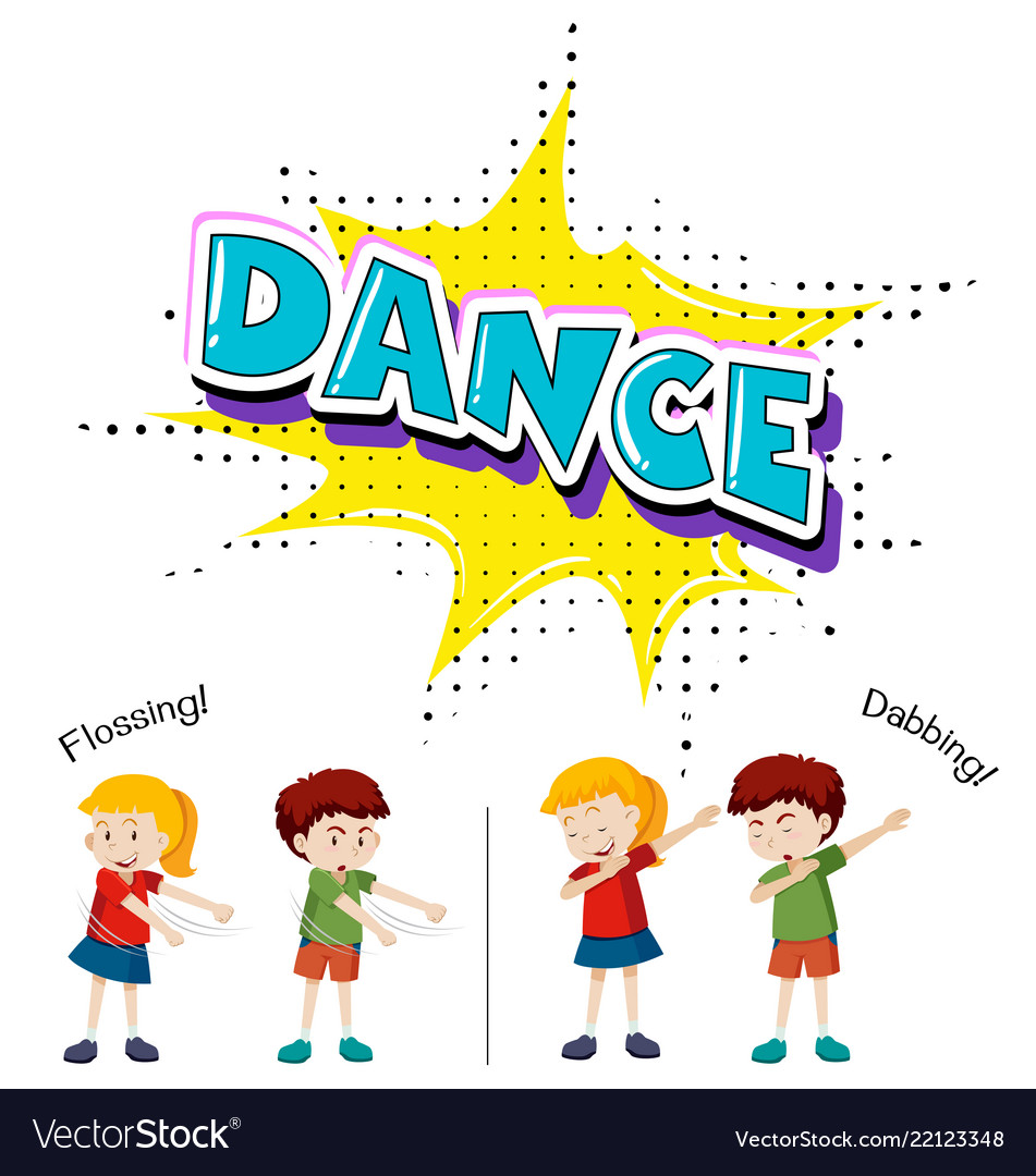 Children with different dance move
