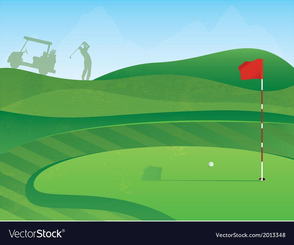 Golf course green vector image