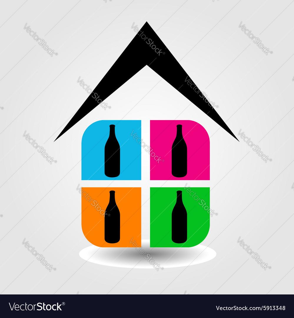 Logo for spirit shop vector image