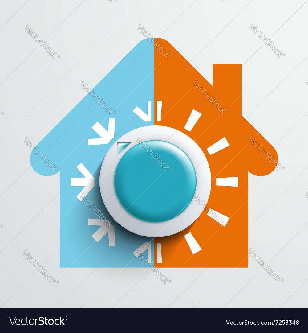 Regulator climate control vector image