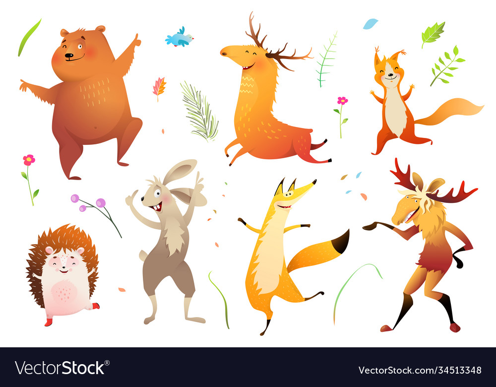 Wild animals forest collection for kids