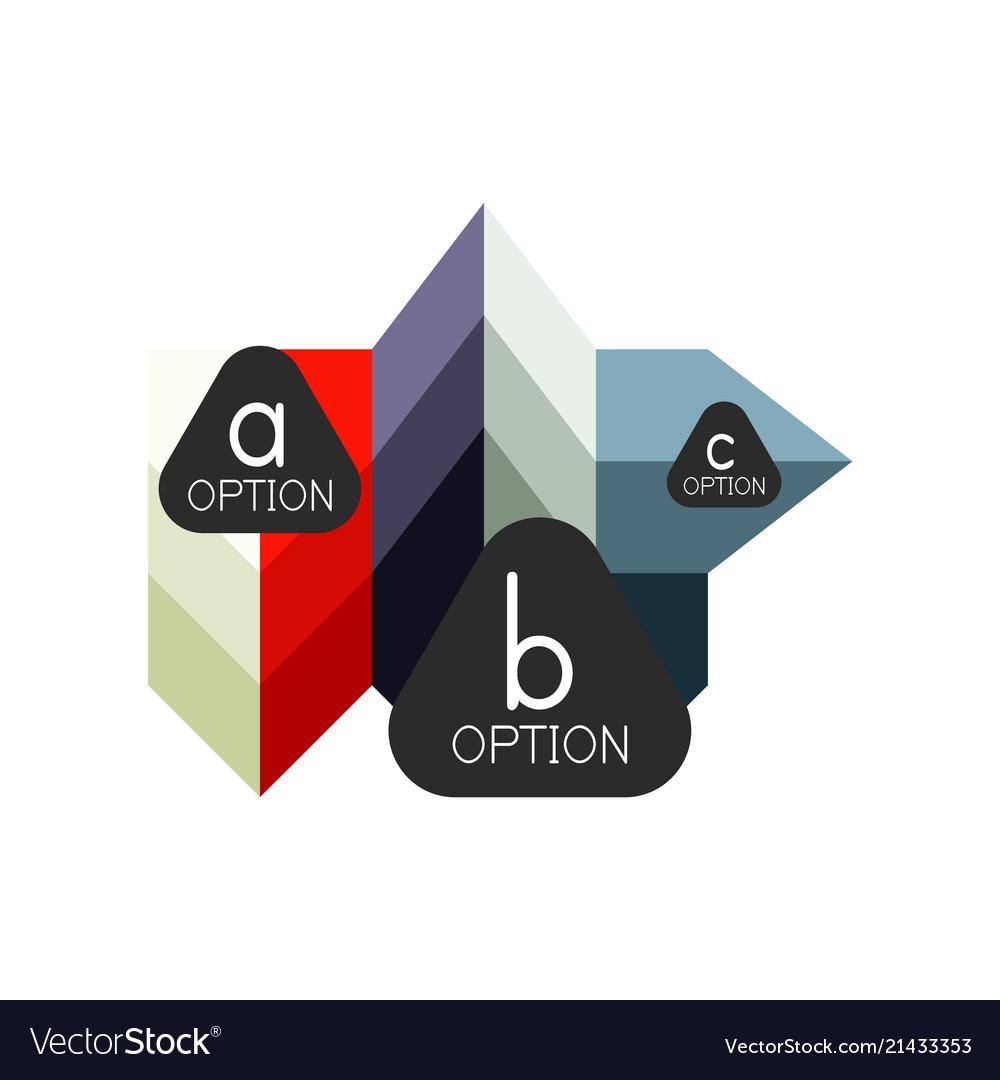 Abstract colorful geometric option infographics