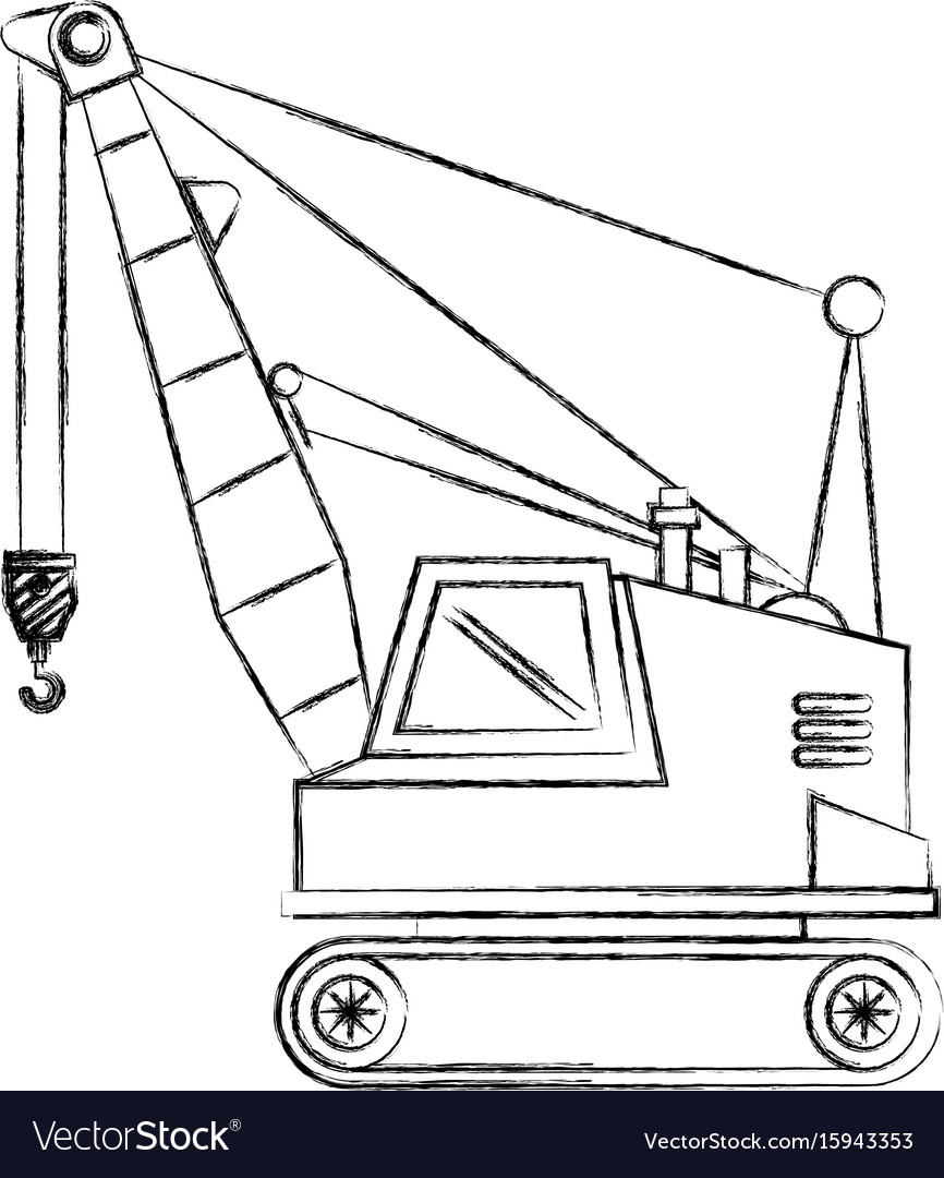 Crane construction isolated icon