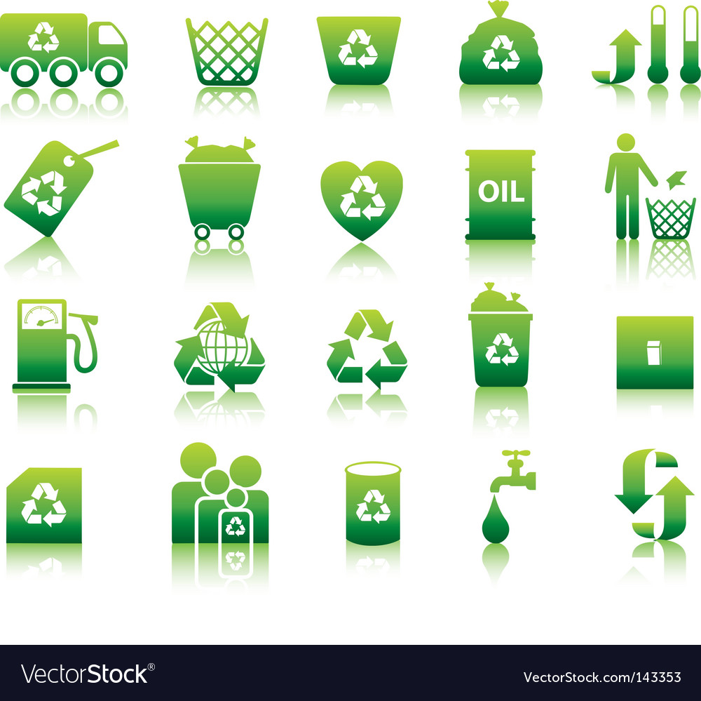 Eco silhouettes vector image