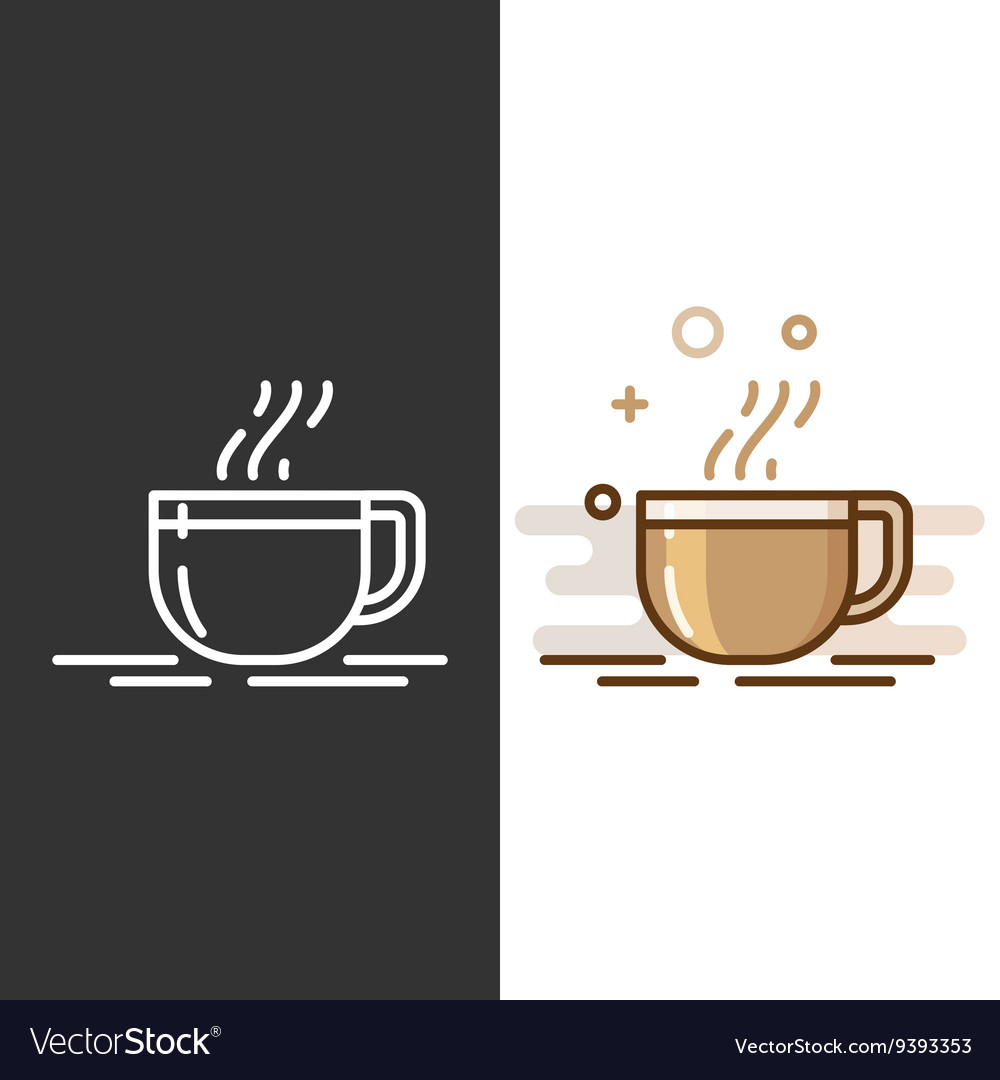 Glass coffee cup icon