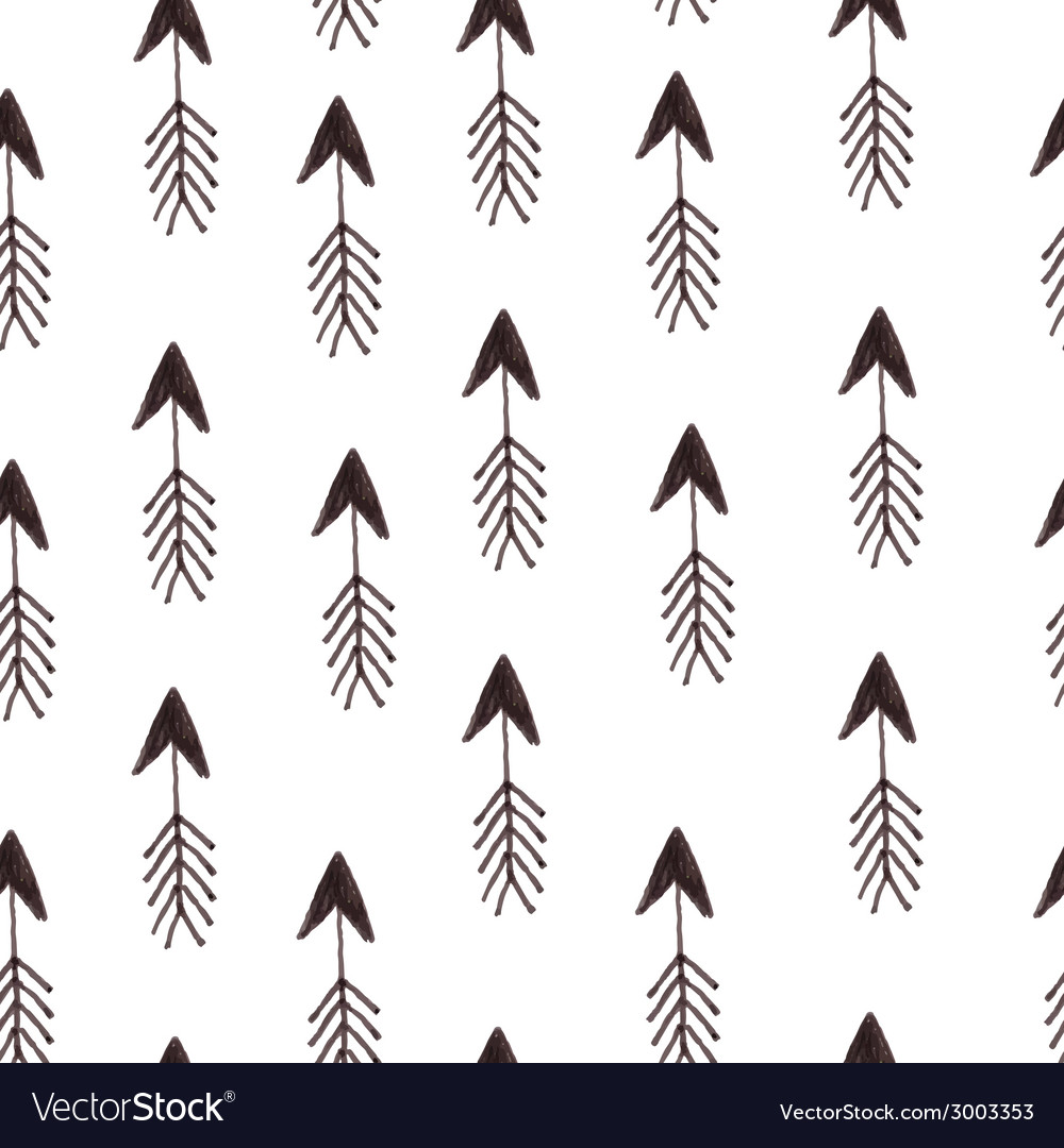 Hipster pattern with arrows vector image