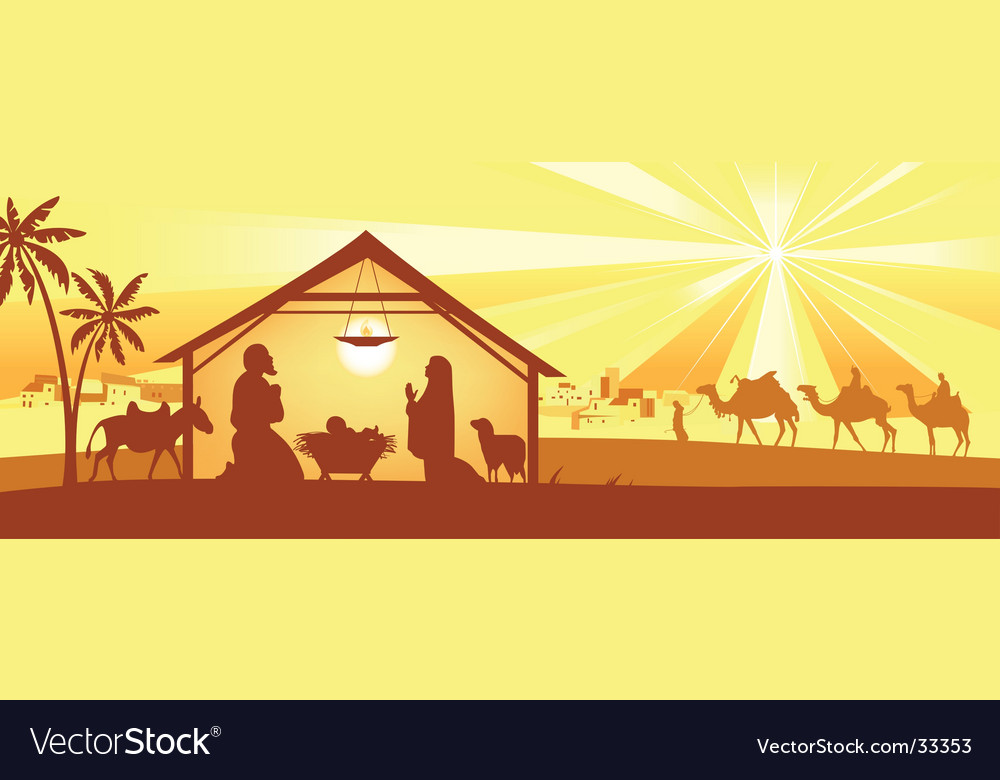 Holy night way to bethlehem