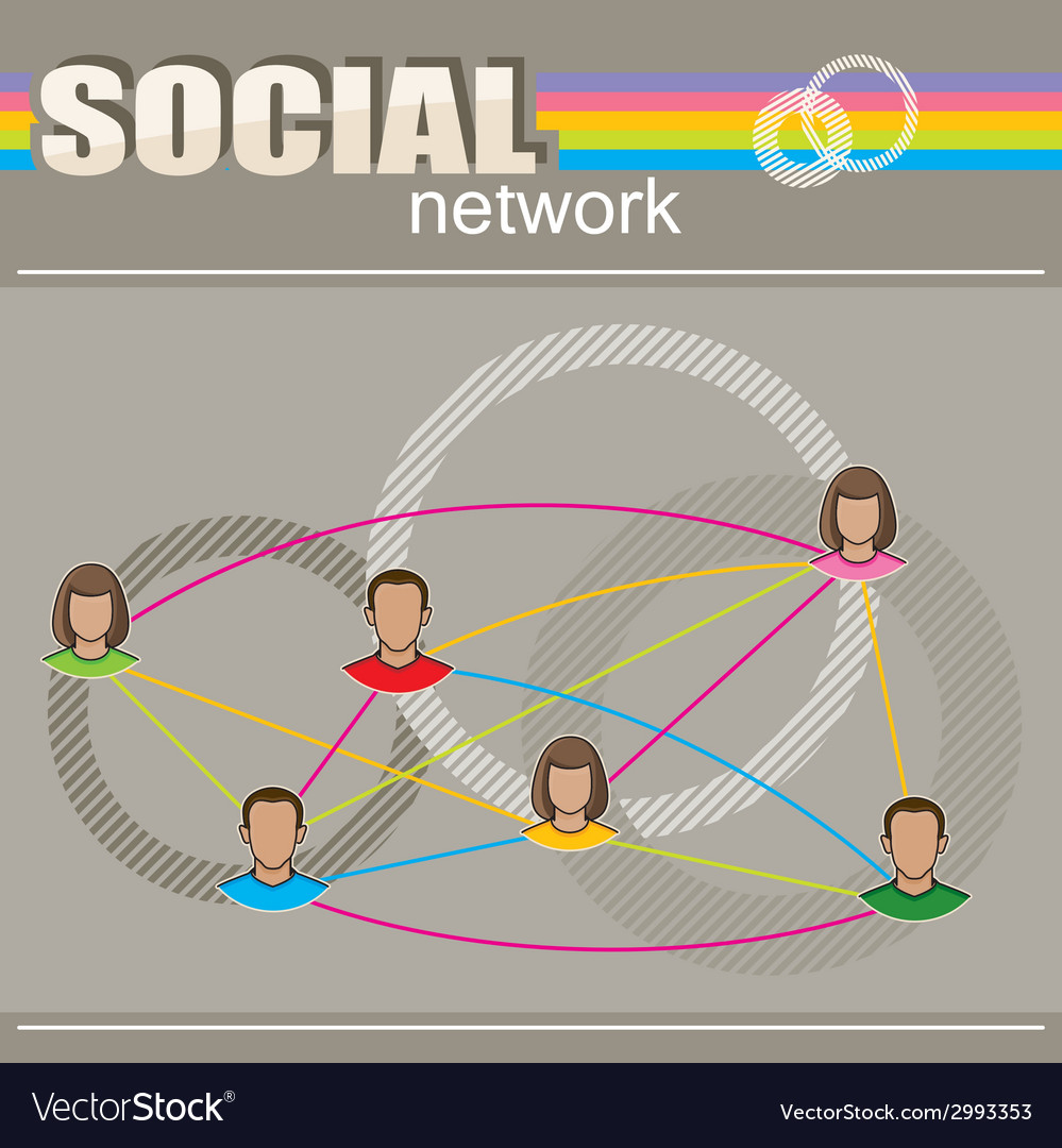 Infographic with user face icons social network