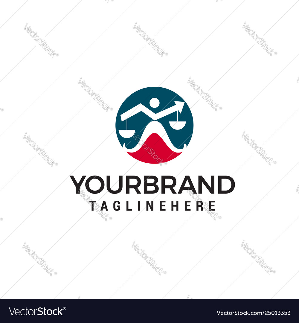 Law arrow logo design template
