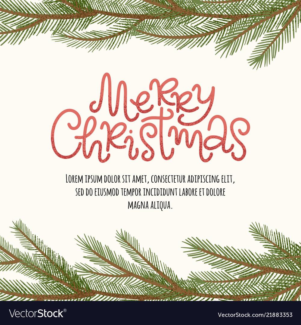 Merry christmas pine border
