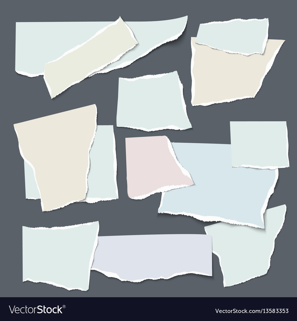 Set of isolated realistic empty paper
