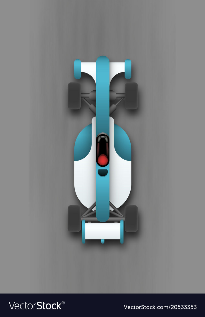 Sport Car Top View Royalty Free Vector Image Vectorstock