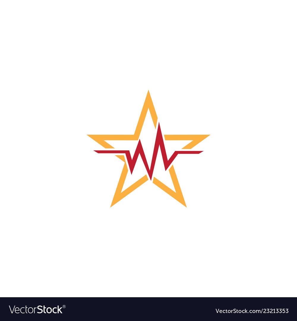 Star heartbeat logo