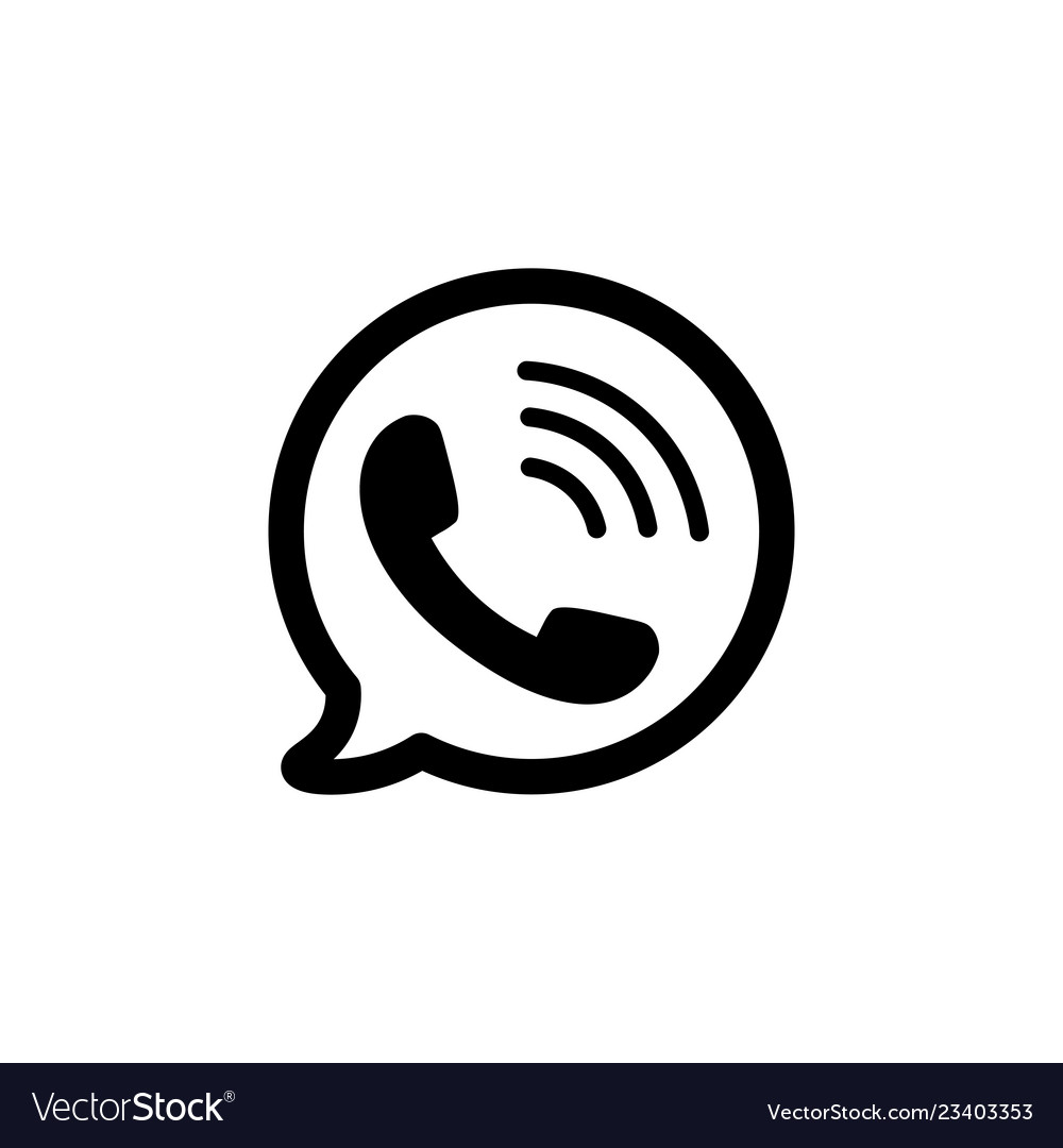 Telephone icon black phone symbol in bubble