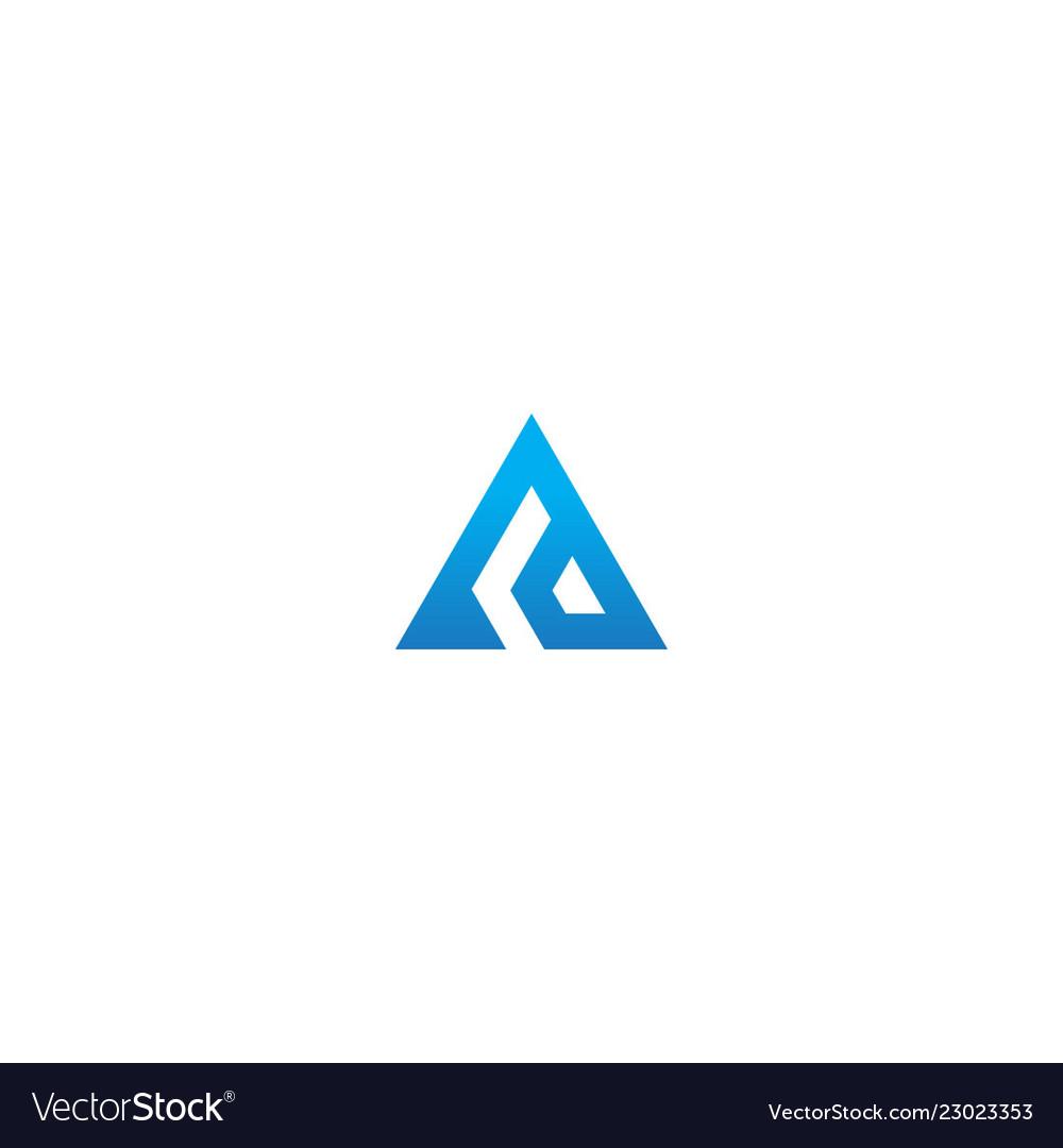 Triangle pyramid shape company logo