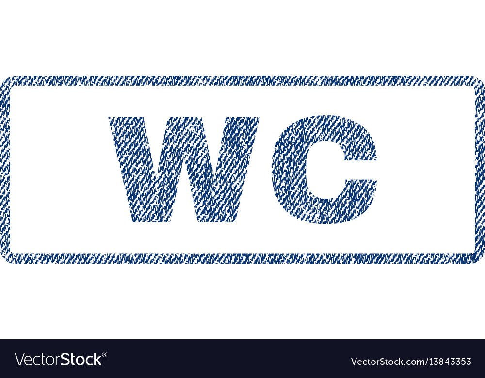 Wc textile stamp vector image