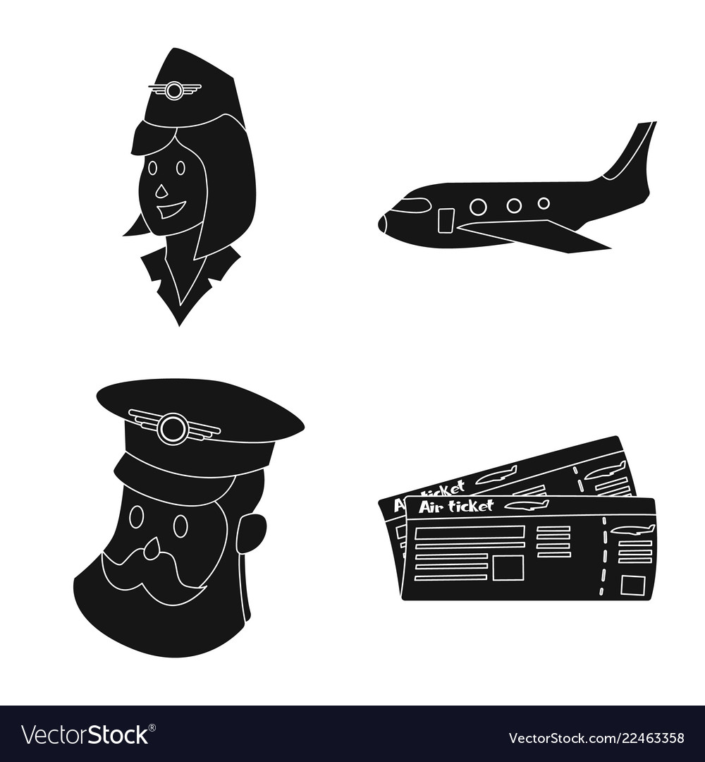 Airport and airplane symbol