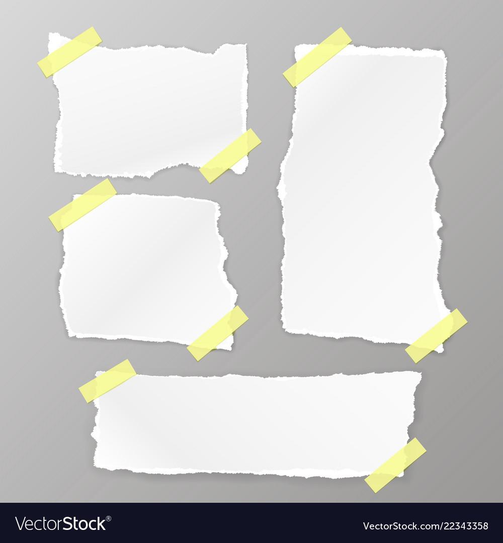 Torn square paper set
