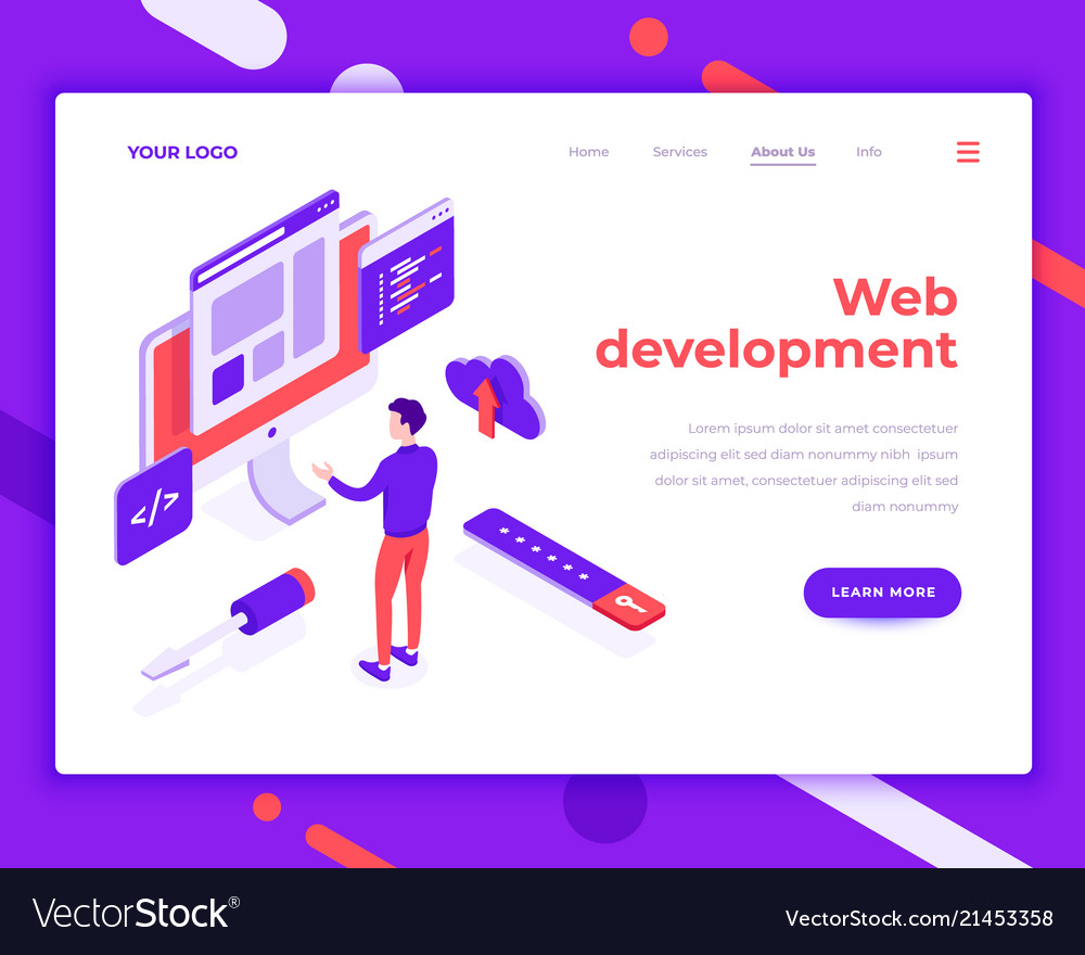 Web development teamwork people and interact