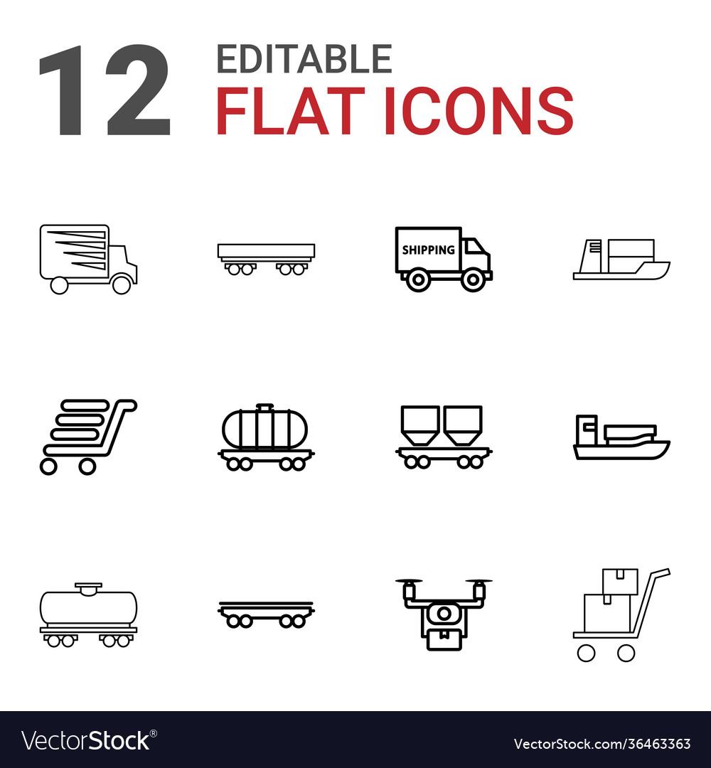 12 shipment icons