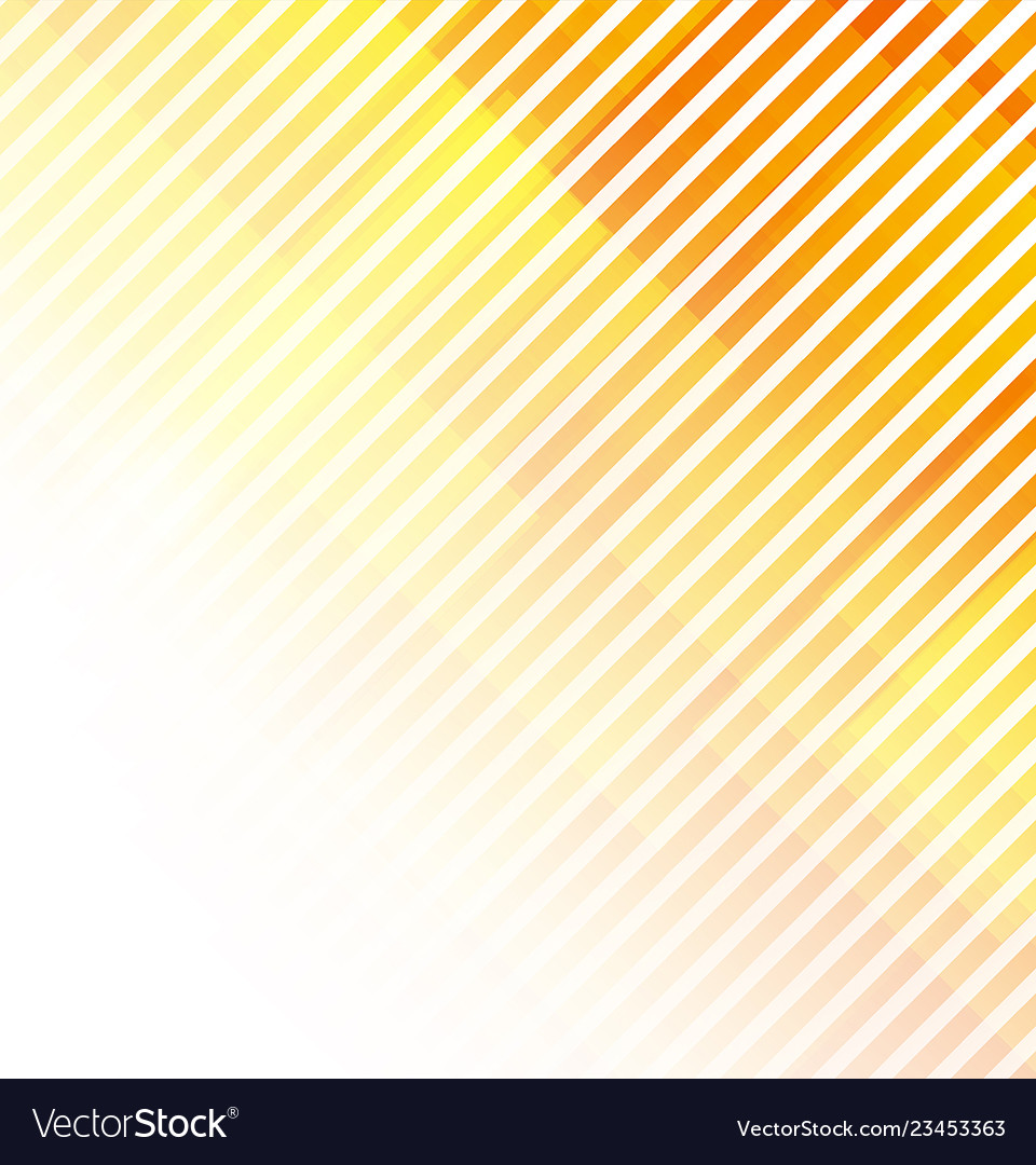 Abstract lines on white and orange background