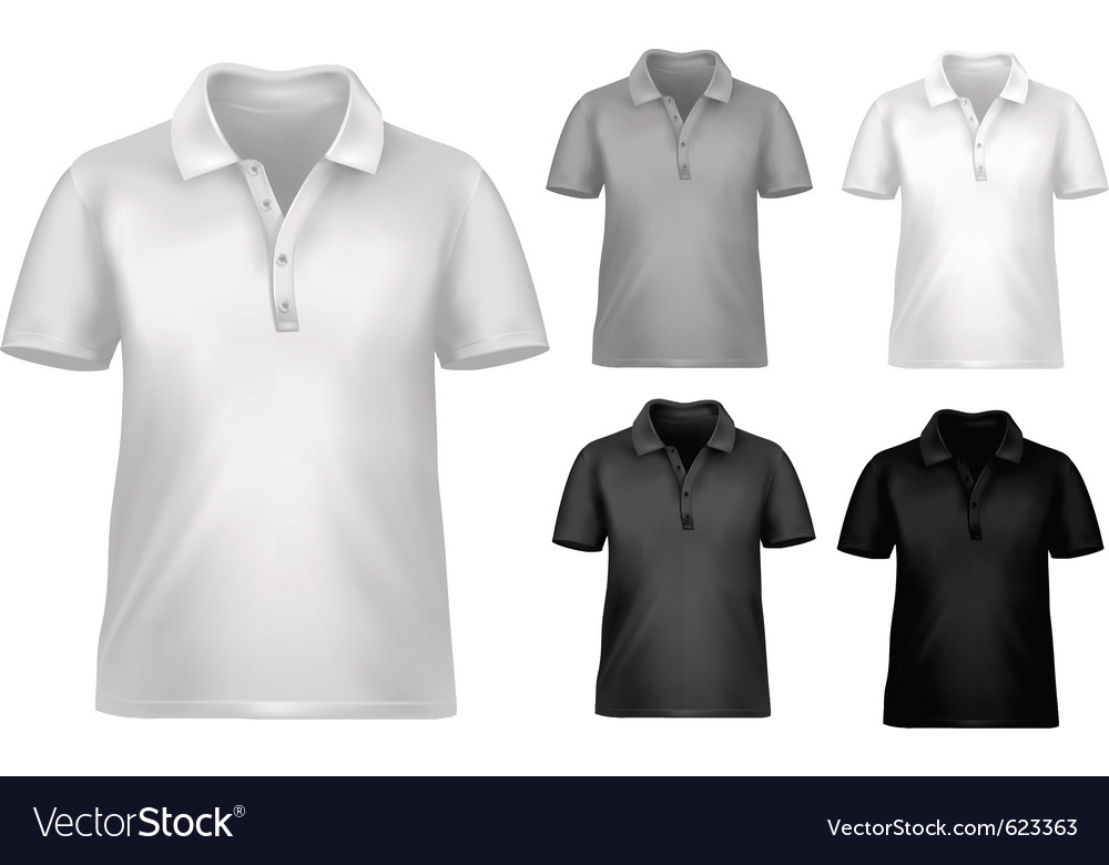Black And White T Shirt Design Template Royalty Free Vector