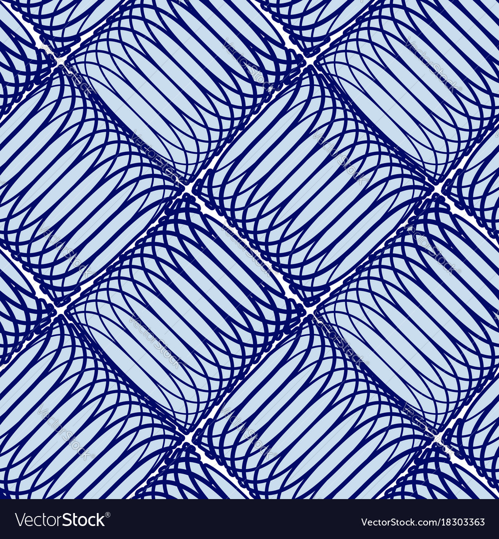 Blue abstract seamless pattern with lines
